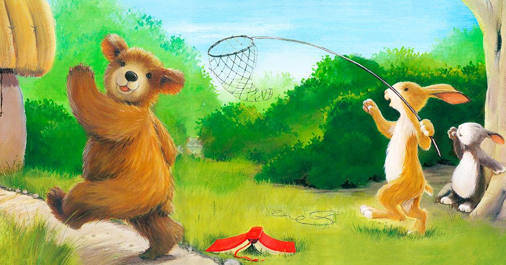 A biblioteca ao sábado: Segue aquele urso!